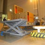 Применение низкоплатформенного подъемного стола ГК Техносистемы