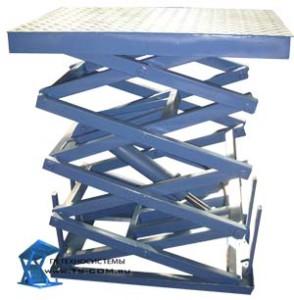 Четырехножничные подъемные гидравлические столы