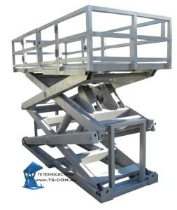 Двухножничные подъемные гидравлические столы