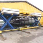 Фотографии мобильных подъемных столов для крупногабаритных грузов ГК Техносистемы