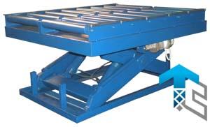 Подъемные столы с рольгангами  производства Группы Компаний Техносистемы