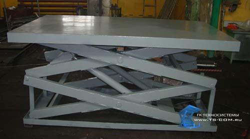 Двухножничный подъемный стол 1.5 т на складе