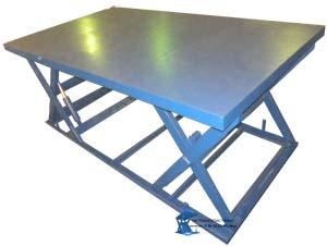 Подъемные столы с последовательными горизонтальными ножницами