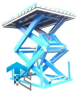 Фотографии двухножничных подъемных столов