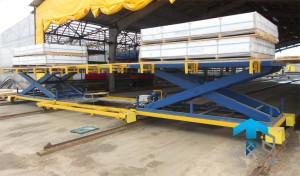 Фотографии мобильных подъемных столов для крупногабаритных грузов
