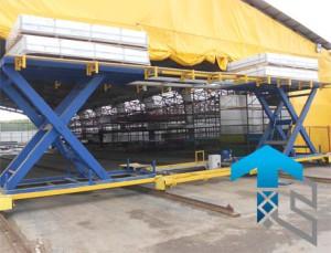 Мобильный подъемный стол для крупногабаритных грузов