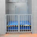Ворота для ограничения доступа к подъемному столу ГК Техносистемы