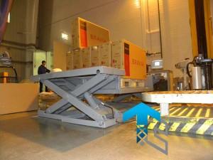 ГК Техносистемы поставила низкоплатформенный подъемный стол г/п 600 кг для завода SONY