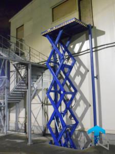 Четырехножничный подъемный стол г/п 1500 кг на производство, Москва